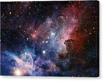 Carina Nebula Canvas Print by Eso/t. Preibisch