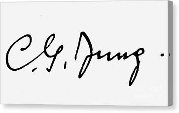 Carl Gustav Jung Canvas Print by Granger