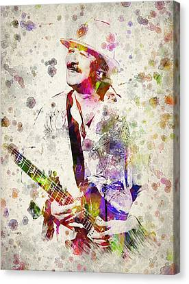 Carlos Santana Canvas Print by Aged Pixel