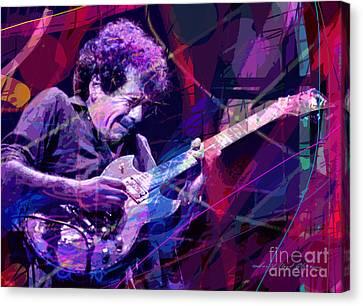 Carlos Santana Bends Canvas Print by David Lloyd Glover