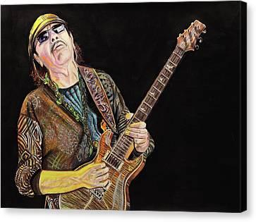 Carlos Santana Canvas Print by Chris Benice