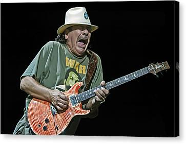 Carlos Santana On Guitar 4 Canvas Print by Jennifer Rondinelli Reilly - Fine Art Photography