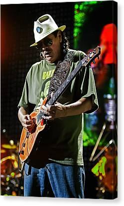 Carlos Santana On Guitar 8 Canvas Print by Jennifer Rondinelli Reilly - Fine Art Photography