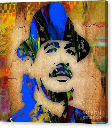 Carlos Santana Painting Canvas Print by Marvin Blaine