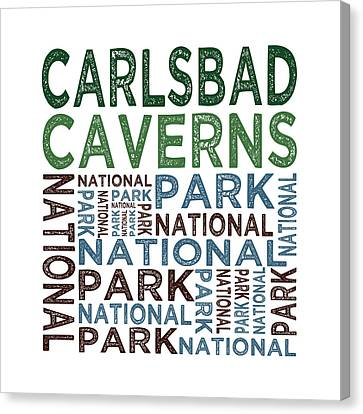 Carlsbad Caverns National Park Words Canvas Print by Flo Karp