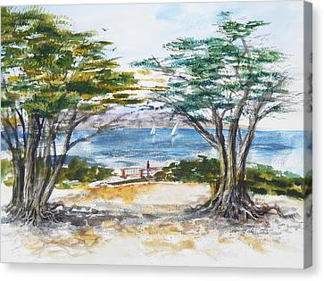 Carmel By The Sea California Canvas Print by Irina Sztukowski