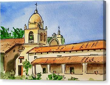 Carmel By The Sea - California Sketchbook Project  Canvas Print by Irina Sztukowski