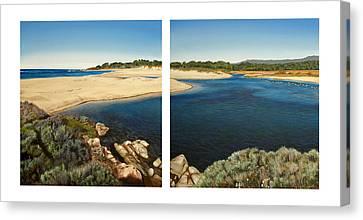 Carmel Lagoon Beach Canvas Print by Logan Parsons