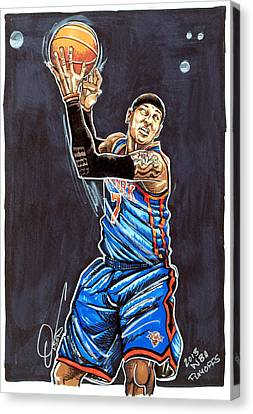 Carmelo Anthony Canvas Print by Dave Olsen