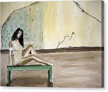 Carmen. Canvas Print by Shlomo Zangilevitch