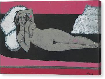 Carmena Resting Canvas Print by Endre Roder
