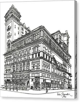 Carnegie Hall Back In Time Canvas Print by Ira Shander