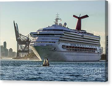 Carnival Cruise Line Destiny Canvas Print by Rene Triay Photography