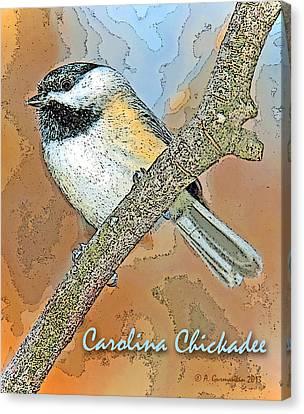 Canvas Print featuring the photograph Carolina Chickadee Digital Image by A Gurmankin