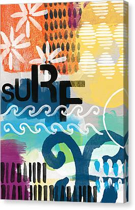 Carousel #7 Surf - Contemporary Abstract Art Canvas Print by Linda Woods