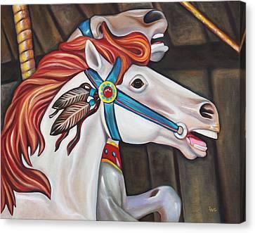 Carousel Chief Canvas Print by Eve  Wheeler