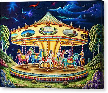 Carousel Dreams 3 Canvas Print by Andy Russell