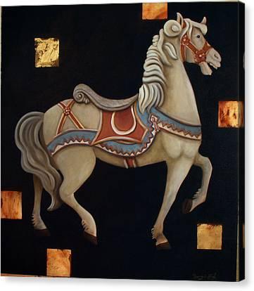 Carousel Horse Canvas Print by Gerry High
