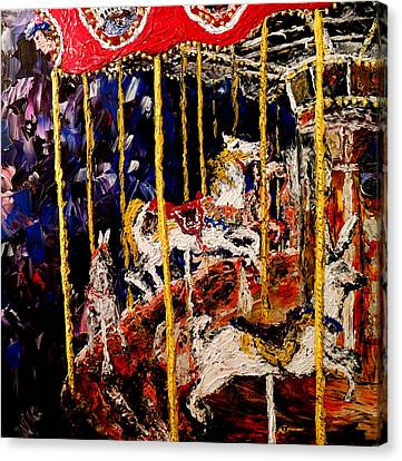 Carousel  Main Attraction  Canvas Print by Mark Moore