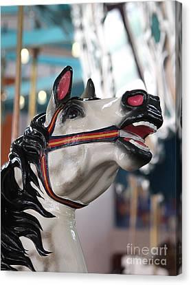 Carousel Wild Horse Canvas Print by Robert Yaeger