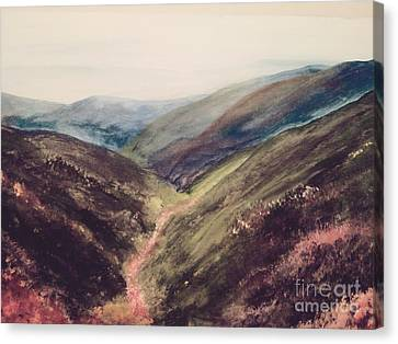 Carpathian Valleys Canvas Print by Trilby Cole