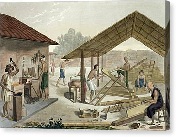 Carpentry Workshop In Kupang, Timor Canvas Print by Francesco Citterio