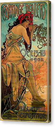 Carriage Dealers Canvas Print by Alphonse Marie Mucha
