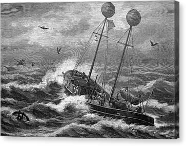 Carrier Pigeons At Sea Canvas Print by Bildagentur-online/tschanz