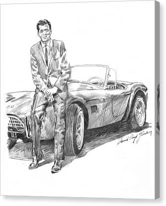 Carroll Shelby And Csx 2000 Canvas Print by David Lloyd Glover
