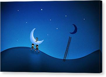 Carry The Moon Canvas Print by Gianfranco Weiss