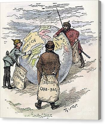 Cartoon - Imperialism 1885 Canvas Print by Granger