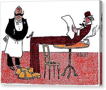 Cartoon 06 Canvas Print by Svetlana Sewell