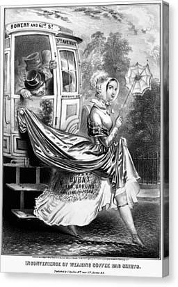 Cartoon Skirts, 1848 Canvas Print by Granger