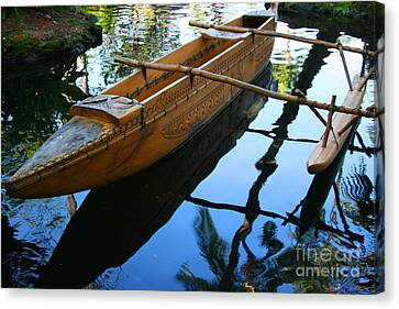 Carved Canoe Canvas Print by Jennifer Apffel