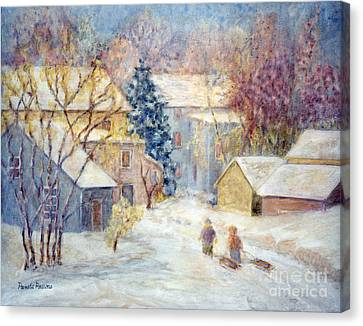 Carversville Snow Canvas Print by Pamela Parsons
