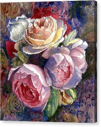 Caryn's Roses Canvas Print by Janet King