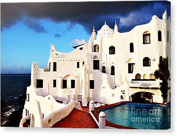 Casa Pueblo Al Mar Canvas Print by Valerie Rosen