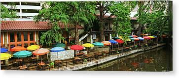 Casa Rio Restaurant At San Antonio Canvas Print by Panoramic Images