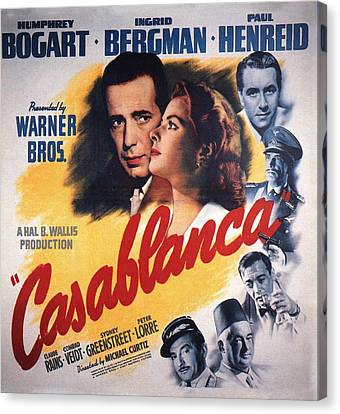 Casablanca In Color Canvas Print by Georgia Fowler