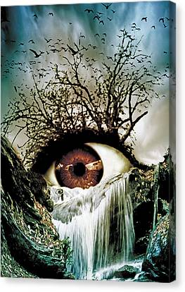 Cascade Crying Eye Canvas Print by Marian Voicu