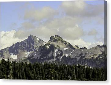 Cascade Mountian Range Glacial Bowls Canvas Print by Paul Shefferly