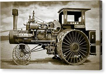 Case 110 Hp Steam Tractor Canvas Print by F Leblanc