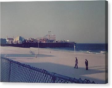 Casino Pier Seaside Heights Nj Canvas Print by Joann Renner