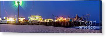 Casino Pier Seaside Canvas Print by Lucy Raos