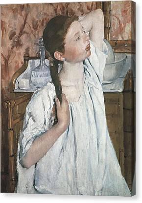 Cassatt, Mary Stevenson 1845-1926. Girl Canvas Print by Everett