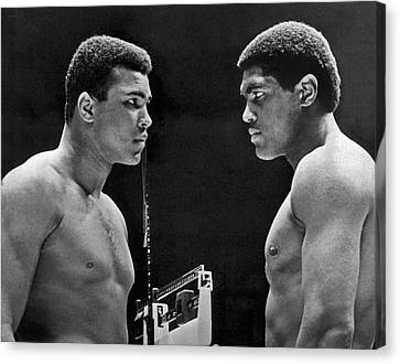 Cassius Clay Gives Whammy Eye Canvas Print by Underwood Archives
