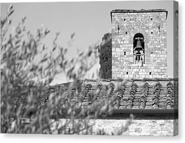 Castello Bell Tower Canvas Print by Adrian Alford