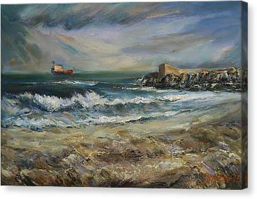 Castellon Deserted Beach Canvas Print by Stefano Popovski
