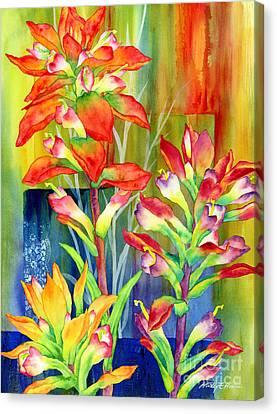 Castilleja Indivisa Canvas Print by Hailey E Herrera