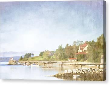 Castine Harbor Maine Canvas Print by Carol Leigh